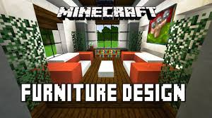 minecraft tutorial how to make living room furniture modern