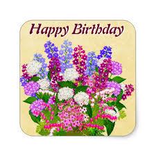 english garden flowers happy birthday sticker zazzle com