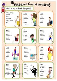 Noun Worksheet Kindergarten Present Continuous Esl Worksheets Of The Day Pinterest