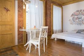 brick wall apartment historical studio apartment with folk motifs brick wall home