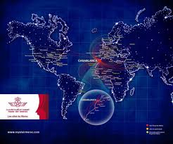 Oneworld Route Map by At 3o Moroccan Airlines Royal Air Maroc Air Arabia Maroc