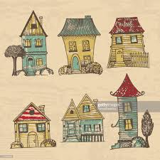 houses in different architectural styles vector art getty images
