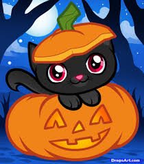 image gallery halloween cat face cartoons