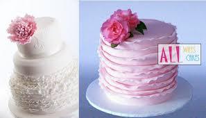 fondant frills u0026 ruffle wedding cakes cake geek magazine