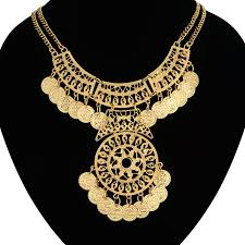 ethnic gold necklace images Dubai gold jewellery for women ethnic gold color chunky statement jpg