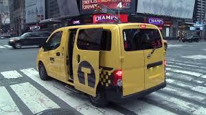 nissan nv200 taxi nissan nv200 le taxi de demain à new york youtube