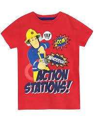 shop kids fireman sam t shirt character com official merchandise