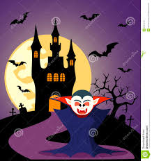 halloween background witch moon halloween background with dracula stock image image 33972151