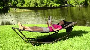 bliss hammocks stow ez hammock with canopy on qvc youtube