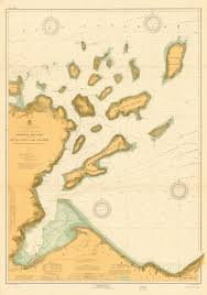 Lake Superior Map Print Of Apostle Islands Including The South Coast Of Lake