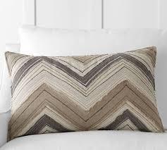 applique zig zag zig zag appliqué lumbar pillow cover pottery barn