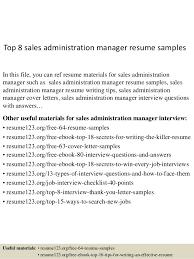 top 8 sales administration manager resume samples 1 638 jpg cb u003d1432192329