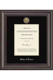 Interior Design License Texas State Of Texas Black Bar Certificate Frame University Co Op