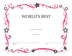 Gift Certificate Word Template Free Printable Blank Award Certificate Templates Diy Pinterest