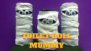 halloween craft toilet paper roll mummy toilet paper roll