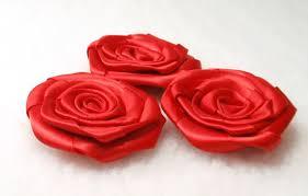 satin roses ribbon wedding roses