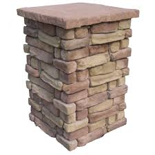 Decorative Stone Home Depot Random Stone Brown 42 In Outdoor Decorative Column Rscb42 The