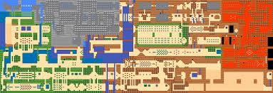 legend of zelda map with cheats crude ascii maps zelda outlands