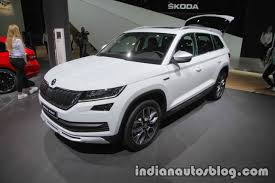 skoda kodiaq interior skoda kodiaq scout showcased at iaa 2017 live