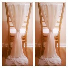 chair sash buckles 2018 ivory chiffon chair sashes wedding party deocrations bridal