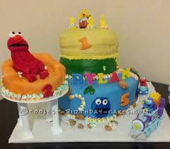 sesame street birthday cake for a 2 year old boy