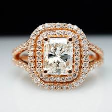 big gold rings images Sale 1ct diamond 14k rose gold emerald cut diamond engagement ring jpg