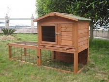 Double Decker Rabbit Hutch Double Rabbit Hutch With Run Ebay