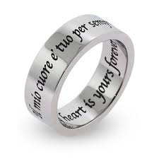Custom Name Ring Wedding Rings Cheap Personalized Rings Two Finger Name Ring