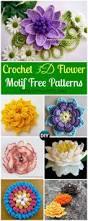 Free Pattern For Crochet Flower - crochet 3d flower motif free patterns u0026 instructions crochet