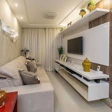 salas living room wall units solução para salas estreitas o móvel e painel da tv dão a