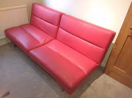 Leather Click Clack Sofa Asda George Red Click Clack Sofa Bed Faux Leather In Caversham