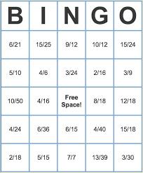 best 25 fraction bingo ideas on pinterest math fractions