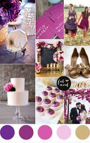 shades of purple and gold wedding color palette royal purple