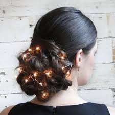 holiday updo with christmas lights u2014 unique holiday hairstyle