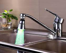 led kitchen faucet led faucet light kitchen and bathroom sink fungadgetworld