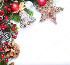 christmas border design over white u2014 stock photo subbotina 10681662