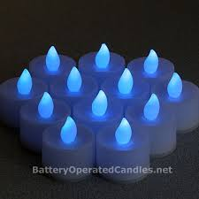 flameless tea lights blue led battery operated set 12 buy now
