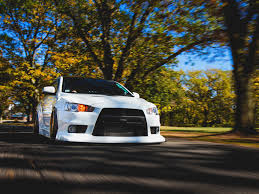 lancer mitsubishi white car mitsubishi lancer tuning white wallpaper hd desktop wallpaper