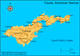 map samoa american samoa map