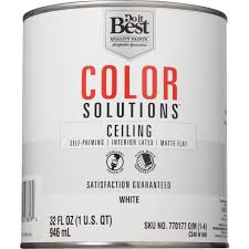 do it best color solutions latex self priming flat ceiling paint