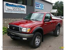 toyota truck dealership near me 2004 toyota tacoma regular cab 4x4 in impulse red pearl 429989