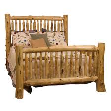buy traditional cedar log spindle headboard size king spindle