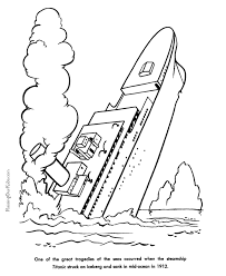 sinking ship colouring pages coloring