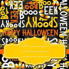happy halloween images free happy halloween white black yellow orange letters and sweets