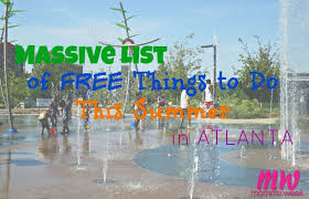 list of free things to do in atlanta this summer with your