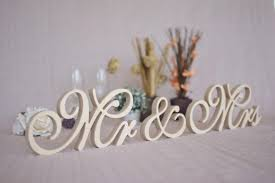 mr and mrs sign for wedding mr mrs table signs wedding signs mr mrs set top table mr and mrs