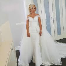 aliexpress com buy two piece off shoulder lace detachable skirt