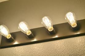 Vintage Bathroom Vanity Lights Bathroom Vanity Light Bulbs Home Design In Edison Bulb Lighting