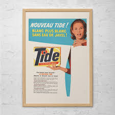Retro Laundry Room Decor by Vintage Tide Ad Laundry Room Poster Ad Mid Century Poster