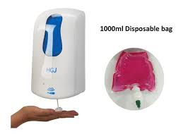 wall mounted hand sanitizer liquid soap foam dispenser with disposable bag foam hand